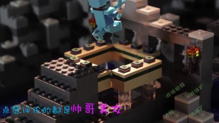 我的世界:乐高版 史蒂夫制作TNT红石大炮,玩具动画