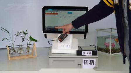 ZH-1512触控屏幕收款机双萤幕收银机All餐饮快餐奶茶店收款机服装母婴超市水果收银系统厂家直销可定製採购