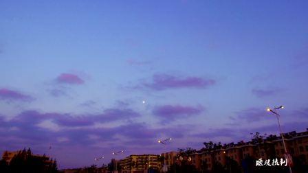 4K维美城市黄昏转黑夜延时拍摄