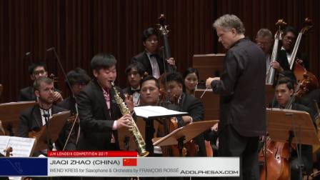 Londeix 2017 - Final - Jiaqi Zhao (China) - Wend'kreis for Sax&Orch by F. Rosse