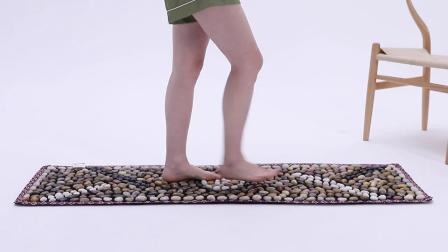 君晓天云雨花石足垫鹅卵石足底按摩垫脚底按摩器家用穴位脚垫石子路指压板
