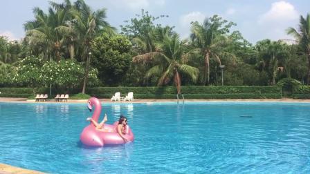 君晓天云原版水上游泳圈充气凤梨彩虹披萨仙人掌浮排浮牀游泳漂浮气垫