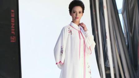 君晓天云古韵中华单件长版刺绣披纱太极服装练功男女春秋比赛表演服装