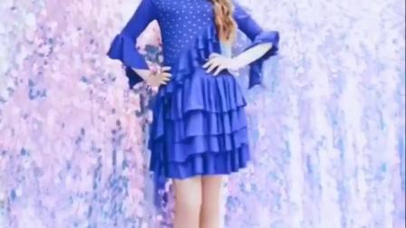 君晓天云百雅千慧拉丁舞裙女成人洋装蛋糕裙中老年广场舞裙服装演出服装