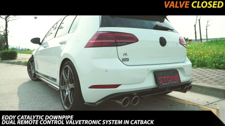 Volkswagen GOLF R 7.5 x STONE EXHAUST Turbo-back Sound