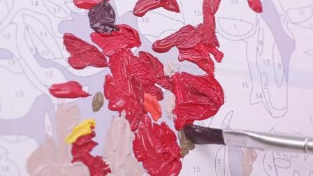 君晓天云diy数字油画人物客厅大幅填色减压手工绘油彩数码装饰画芭蕾舞蹈