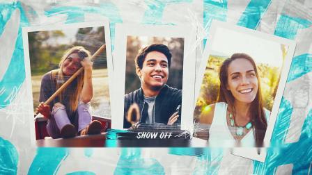 AE模板 青春热情美好生活 同学会人物风景回忆照片墙视频电子相册