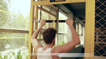 君晓天云单扛家用室内单槓引体向上器材简易免打孔吊槓门上健身门槓伸缩桿