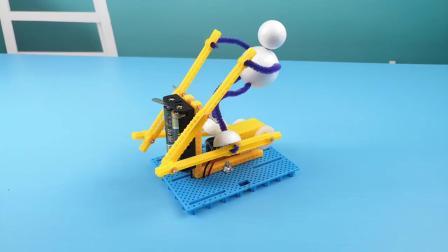 君晓天云儿童科学实验玩具小学生科技小製作发明DIY手工发电机健身机器人