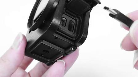 君晓天云gopro配件gopro狗笼金属兔笼铝合金外壳hero765防摔边框多功能可充电云台热靴保护套运动相机gopro7配件