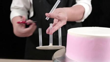 君晓天云68寸双层多层蛋糕底部打桩垫片支撑架含吸管5套装烘焙工具