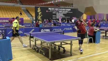 中成组小组赛 人脸识别队(冯伟军) vs 乒乓旅行网(刘冬日)  第十五届斯帝卡
