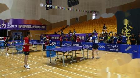 中青组小组赛 乒乓之益一队(艾伟) vs 粤泰国际代表队(于春标) 第十五届斯蒂