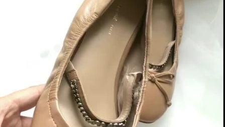 君晓天云超软小羊皮蝴蝶结平跟芭蕾舞鞋 真皮一字带玛丽珍鞋 超仙温柔女鞋