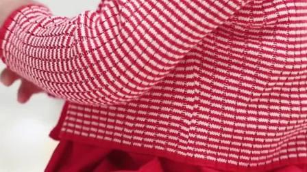 君晓天云女宝宝衣服春秋装公主裙子红色洋装婴儿百天周岁生日礼服裙套装