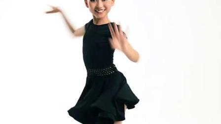 君晓天云儿童舞蹈裙夏季拉丁舞练功服短袖连身拉丁演出表演服女童跳舞新款