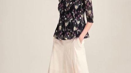 JUZUI玖姿女装2019春装新款网纱拼接蕾丝镂空套头小衫女上衣显瘦
