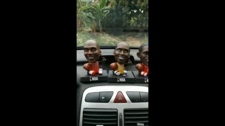创意篮球球星摇头NBA科比詹姆斯汽车公仔玩具车载车内装饰品摆件