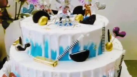 奥特曼蛋糕小猪佩奇生日蛋糕网红同城全国配创意皇冠儿童彩虹吃鸡