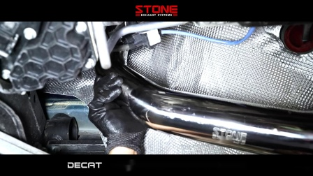 MERCEDES AMG C63S S205 M177 x STONE EXHAUST Eddy Catalytic Downpipe Sound