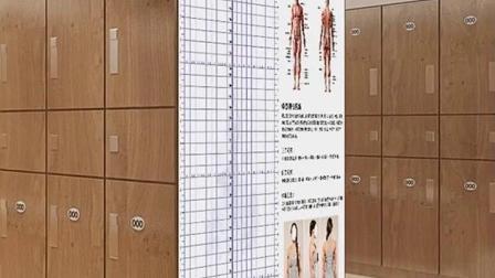 君晓天云体态评估表私教健身房壁纸壁纸瑜伽馆人体测图定製壁画工作室墙布