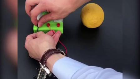 君晓天云水果电池盐水土豆泥电池水果发电实验演示器小学初中物理科学实验器材电极锌片铜片发电材料DIY电池