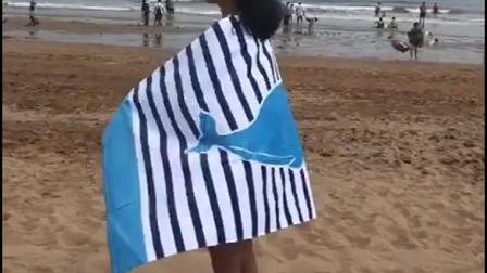 君晓天云外贸原单加大加厚浴巾纯棉成人儿童中大童卡通图案大号柔软沙滩巾