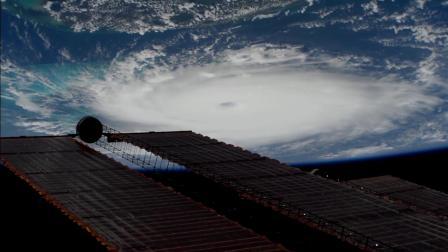 国际空间站视角观测飓风多里安