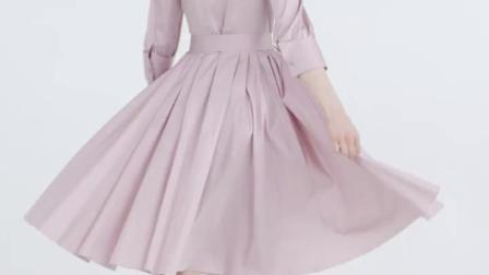 君晓天云Vero Moda2019夏季新款高腰压褶文艺七分袖衬衫洋装31927C522