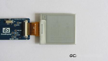 1.54寸黑白单色电子墨水屏/四灰阶电子纸刷新演示 GDEW0154T8