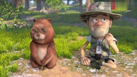 早餐1个馒头解决问题,小河狸参观森林,两只动物一起学做蜂蜜!