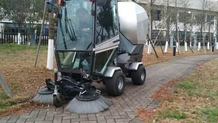 公园人行道落叶清扫 多功能柴油扫地机Park sidewalk deciduous cleaning Multi-function diesel Sweeper