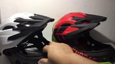 君晓天云德国儿童头盔 2到9岁儿童平衡车安全帽全盔保护嘴巴 自行车头盔护具