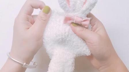 君晓天云婴儿袜子秋冬珊瑚绒卡通防滑兔子保暖袜加厚初生新生儿婴儿袜子