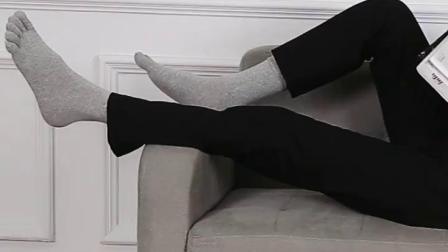 君晓天云五指袜男夏季薄款中厚短筒中筒纯棉分趾袜运动全棉脚趾袜6双