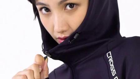 君晓天云安踏运动套装女2019秋季时尚两件套休闲套装跑步套装宽鬆运动服