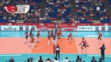 9月15日韩国vs多米尼加-女排世界杯第2轮全场