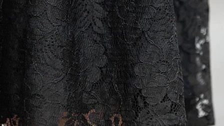 君晓天云哥弟女装2019新款高腰及膝蕾丝伞裙通勤a字裙半身裙女8200015