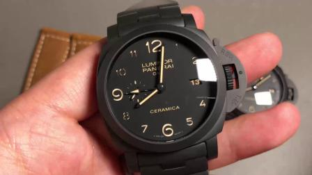 沛纳海438陶瓷腕表不怕刮花,最新V3全黑一体机芯