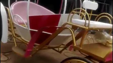 君晓天云南瓜马车铁艺户外摆件欧式灰姑娘婚庆摄影风景区观光旅游楼盘接待车