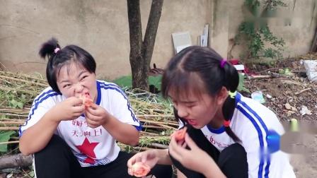 姐妹俩刷鞋嫌盆子小用锅刷,没想欢欢自己用脚放在锅里刷太逗了