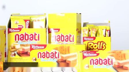 君晓天云丽芝士奶酪威化饼乾玉米棒卷印尼进口460200350g组合零食小吃