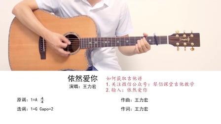 【琴侣课堂】吉他弹唱教学《依然爱你》