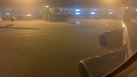 波音747-8i北京首都国际机场起飞过程。