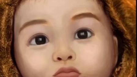 PS起死回生,还原干尸婴儿容貌,可爱的天使!边画边流泪……#ps
