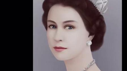 PS绘图的方式,展现英国女王变老全过程。(PS才是把杀猪刀阿😳)#ps