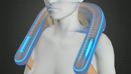 君晓天云金凯瑞肩颈椎按摩器仪家用电动颈肩部肩膀脖子多功能揉捏加热披肩