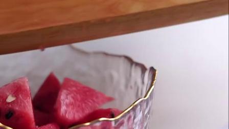 君晓天云锤目纹玻璃水果盘客厅茶几家用沙拉碗北欧风格创意个性现代水果碗