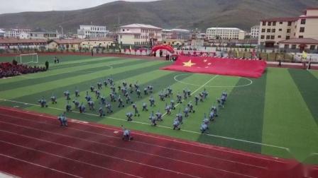 """达日县民族小学隆重开展了以""""我和我的祖国""""为主题的庆祝中华人民共和国成立70周年活动。"""