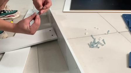 马卡龙木桌安装视频
